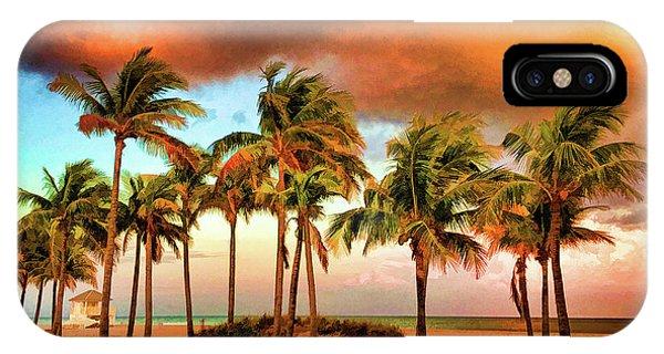 Crandon Park Beach IPhone Case