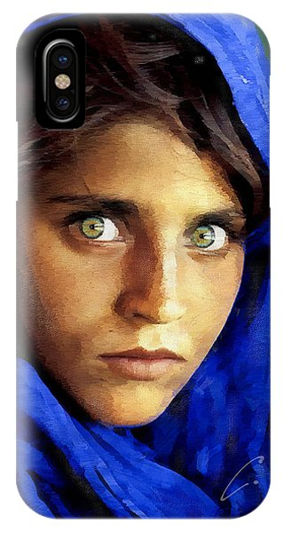 Inspired By Steve Mccurry's Afghan Girl IPhone Case