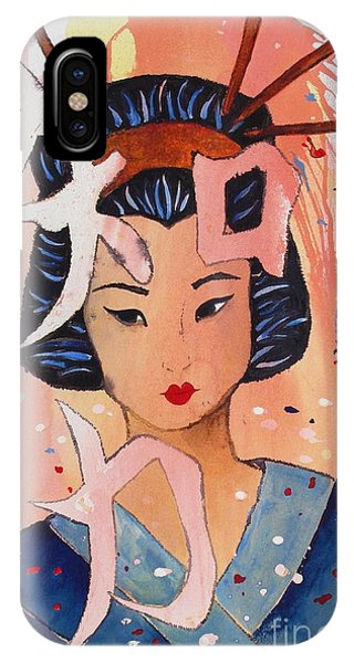 IPhone Case featuring the painting Intellectual Power by Phyllis Howard