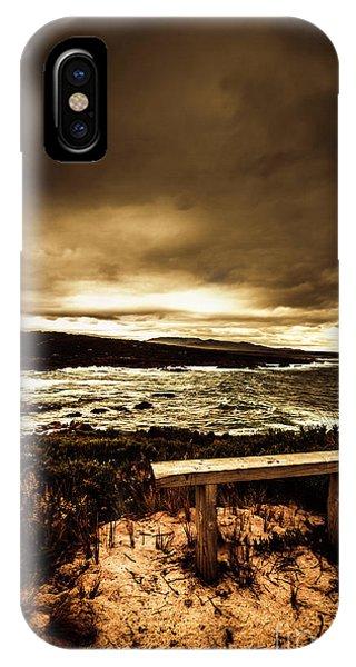 Beach Chair iPhone Case - Intense Coastline Drama by Jorgo Photography - Wall Art Gallery