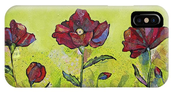 Scarlet iPhone Case - Intensity Of The Poppy I by Shadia Derbyshire