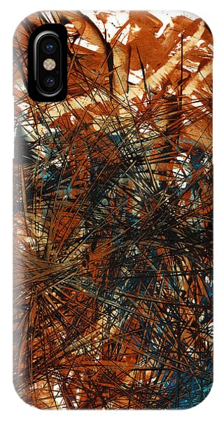 Intensive Abstract Expressionism Series 46.0710 IPhone Case
