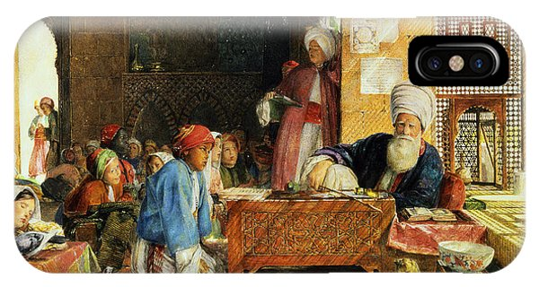 Classroom iPhone Case - Interior Of A School - Cairo by John Frederick Lewis