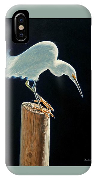 Interlude - Snowy Egret IPhone Case