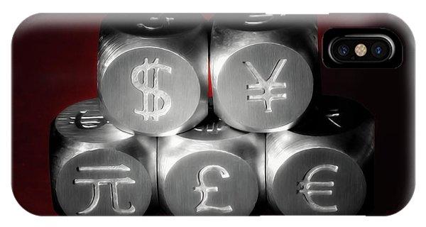 Stainless Steel iPhone Case - International Currency Symbols II by Tom Mc Nemar