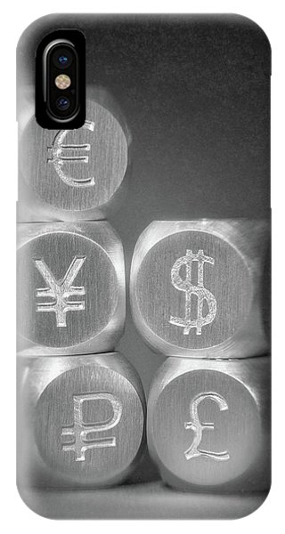 Russia iPhone Case - International Currency Symbols by Tom Mc Nemar
