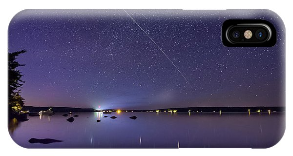 IPhone Case featuring the photograph International Space Station Over Branch Lake by Kirkodd Photography Of New England