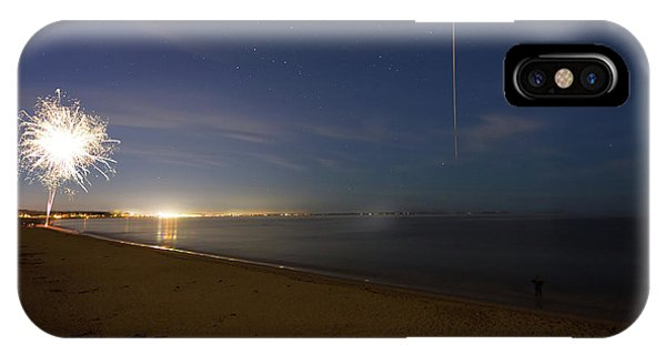 IPhone Case featuring the photograph International Space Station Over Old Orchard Beach Maine by Kirkodd Photography Of New England