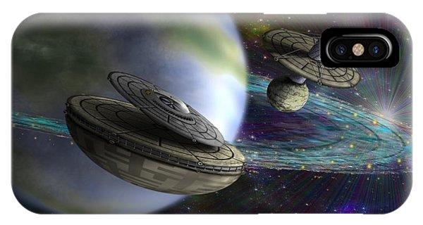 IPhone Case featuring the digital art Interstellar by Vincent Autenrieb