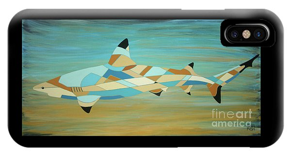 Into The Blue I Shark Painting IPhone Case