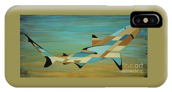 Into The Blue Shark Painting IPhone Case