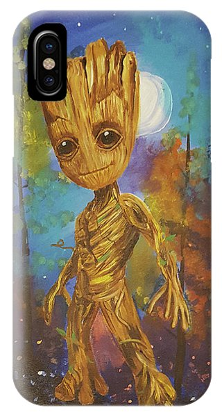 Into The Eyes Of Baby Groot IPhone Case