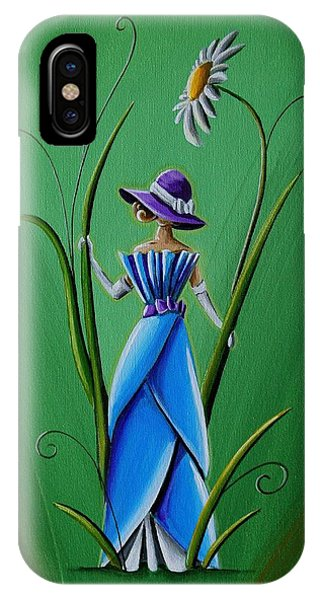 Blue Dress iPhone Case - Into The Garden by Cindy Thornton