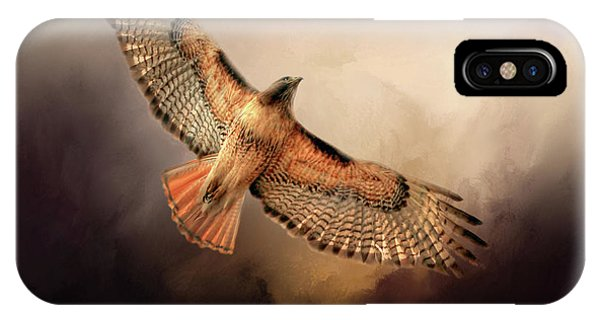 Red Tail Hawk iPhone Case - Into The Light by Donna Kennedy