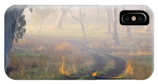 Path iPhone Case - Into The Mist by Mike  Dawson
