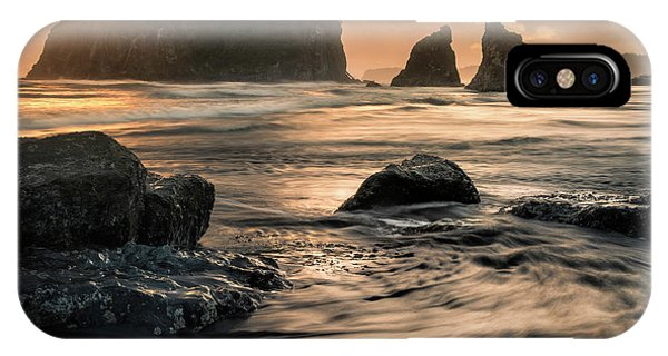 IPhone Case featuring the photograph Into The Sea - Ruby Beach by Expressive Landscapes Fine Art Photography by Thom