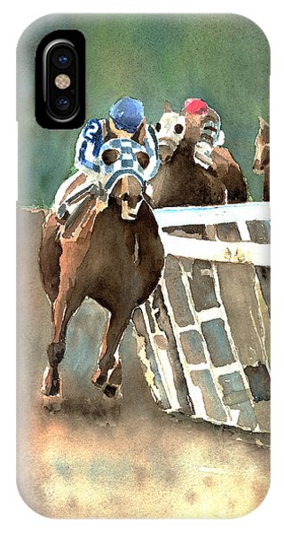 Into The Stretch And Headed For Home-secretariat IPhone Case