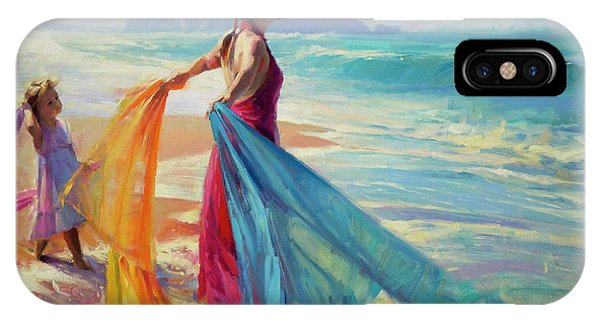 Sand iPhone Case - Into The Surf by Steve Henderson