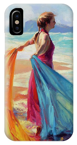 Freed iPhone Case - Into The Surf by Steve Henderson