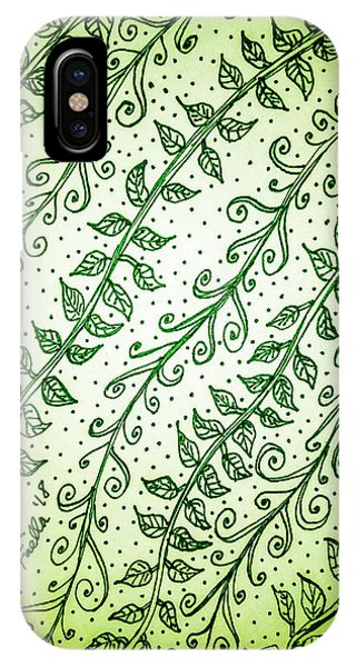 Into The Thick Of It, Green IPhone Case