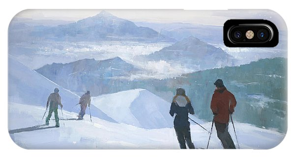 Winter iPhone Case - Into The Valley by Steve Mitchell