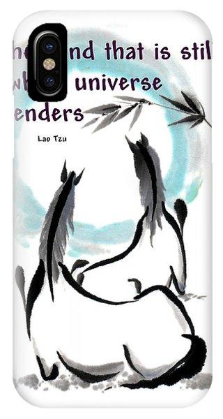 Into The Vortex With Lao Tzu Quote I IPhone Case