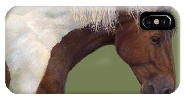White Horse iPhone Case - Intrigued by Lucie Bilodeau