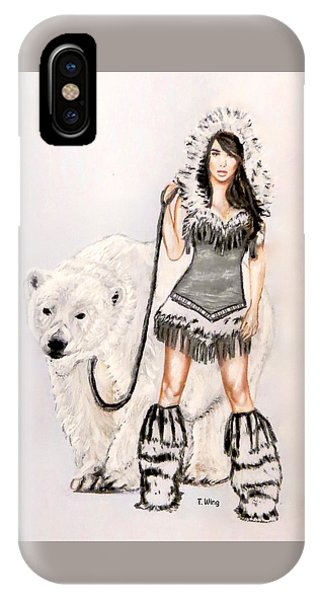 Inuit Pin-up Girl IPhone Case