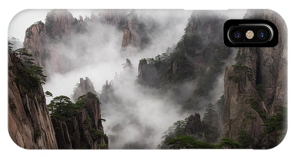 Invisible Hands Painting The Mountains. IPhone Case