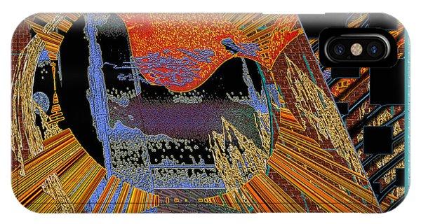 IPhone Case featuring the digital art Inw_20a0610a_mortar-black_fxfr-blue by Kateri Starczewski