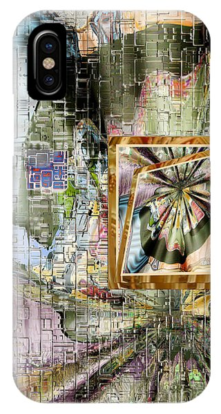 IPhone Case featuring the digital art Inw_20a5067_peasantries_profile-left by Kateri Starczewski