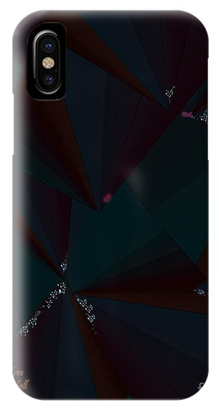 IPhone Case featuring the digital art Inw_20a6148 Free Fall Drop To Crystal by Kateri Starczewski