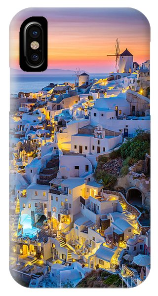 Greece iPhone Case - Oia Sunset by Inge Johnsson