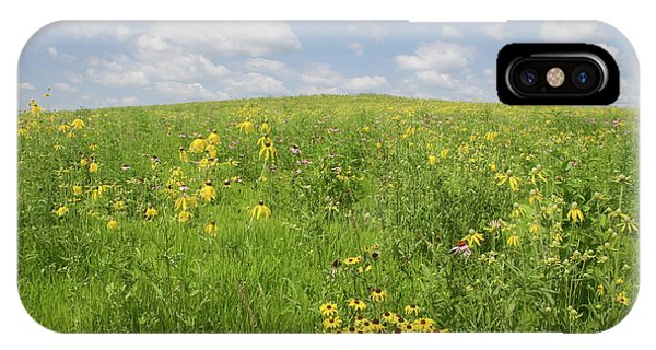 Iowa Summer Flowers I IPhone Case