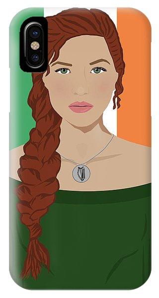 Harp iPhone Case - Ireland by Nancy Levan
