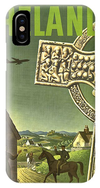 Horseman iPhone Case - Ireland, Vintage Travel Poster by Long Shot