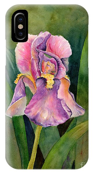 Violet iPhone Case - Iris by Amy Kirkpatrick