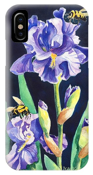 Iris And Bees IPhone Case