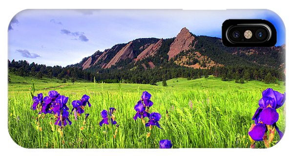 Iris And Flatirons IPhone Case