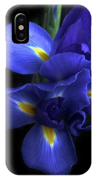 Dark Violet iPhone Case - Iris At Dusk by Jessica Jenney