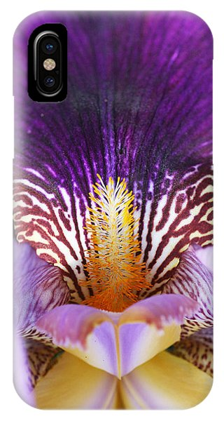 IPhone Case featuring the photograph Iris Close Up by William Selander
