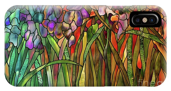 Iris Coloring Book IPhone Case