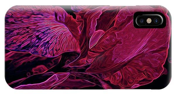 Iris Deep Red Glow IPhone Case
