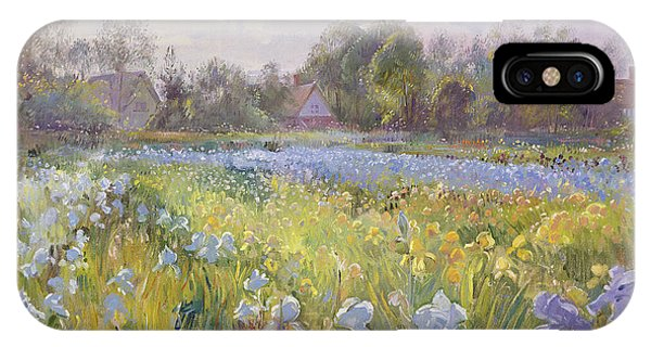 Bucolic iPhone Case - Iris Field In The Evening Light by Timothy Easton
