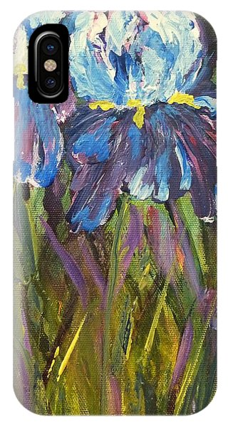 Iris Floral Garden IPhone Case