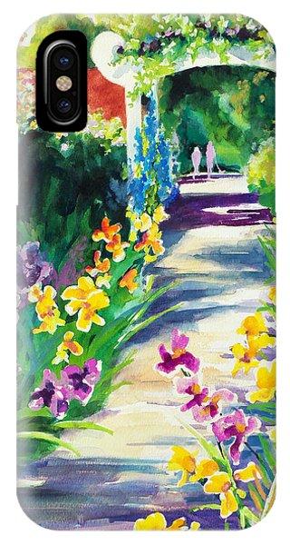 Iris Garden Walkway   IPhone Case