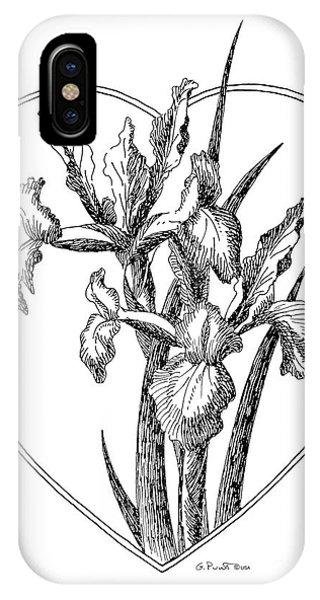 Iris Heart Drawing 3 IPhone Case