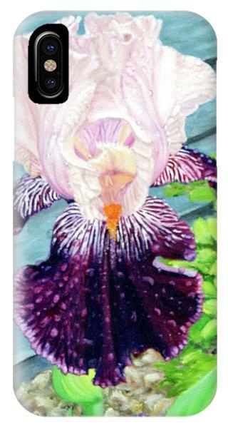 Iris In The Spring Rain IPhone Case