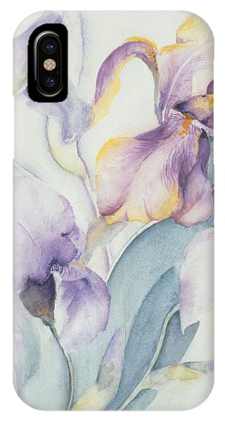 Elegant iPhone Case - Iris by Karen Armitage