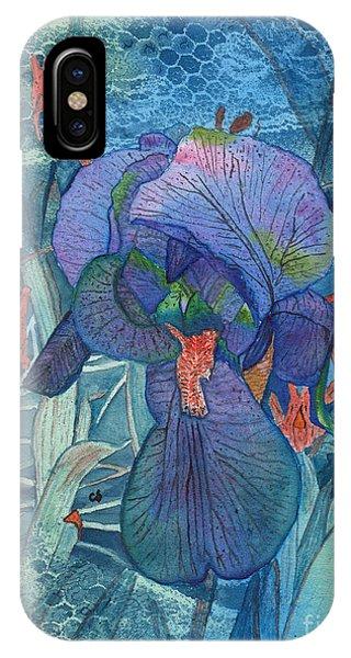 Iris Lace With Wild Columbine IPhone Case